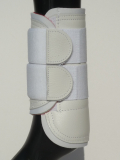 tendon boot - Leather-Bandage-Boot - white