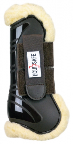 EquiSafe  -  Scratch - Fur Gamasche - brown